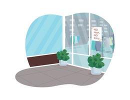 regras de lojas cobertas 2d vetor web banner
