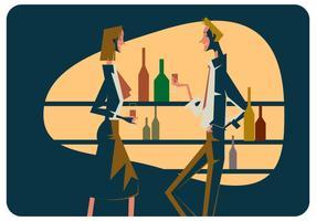 vetor de reunião de bar
