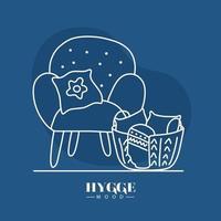 cadeira de humor higiênico com desenho vetorial de cesta vetor