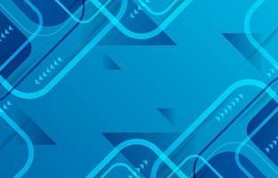 fundo azul geométrico abstrato vetor
