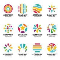 conjunto de logotipo do arco-íris vetor