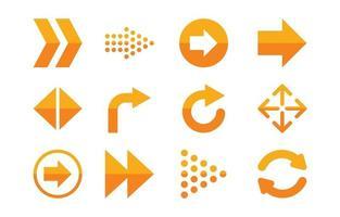 conjunto de ícones de seta vetor
