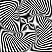 fundo hipnótico preto e branco vetor