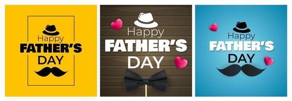 feliz dia do pai conjunto de coleta de fundo. cartaz, folheto ou cartão de felicitações. vetor