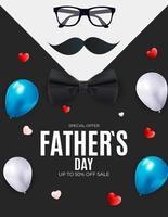 fundo de venda do dia do pai. cartaz, folheto ou cartão de felicitações. vetor