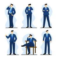 conjunto de caracteres de negócios vetor