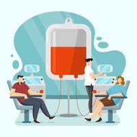 conceito do dia mundial do doador de sangue vetor