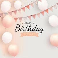 grupo de balões de hélio brilhante de cor. conjunto de balões de fundo para decorações de festa de comemoração de aniversário de aniversário vetor