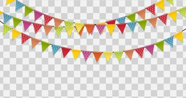 ilustração vetorial de fundo de bandeiras de festa vetor