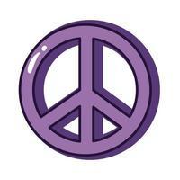 símbolo de paz e amor linha de gíria e estilo de preenchimento vetor