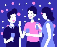 Ilustração de Festas e Encontros vetor