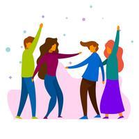 Ilustração em vetor plana festas e recolhimentos