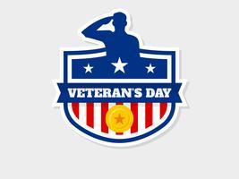Vetores de dia do veterano pendente