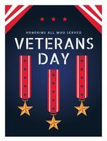Cartaz do dia de veteranos