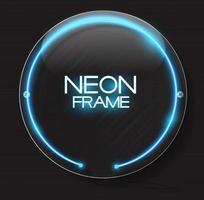 modelo de quadro de néon abstrato em ilustração vetorial de fundo escuro vetor