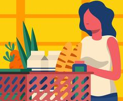 Ilustração de compras de mercearia vetor