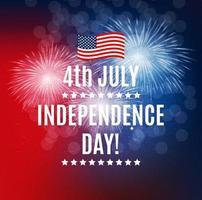 dia da independência em plano de EUA. pode ser usado como banner ou pôster vetor