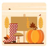 Vetorial, outono, elementos, e, ilustração vetor