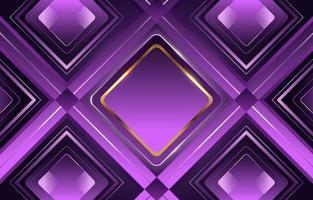 Lavanda dourado luxo diamante gradiente geométrico brilhante vetor