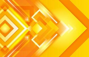 amarelo laranja brilhante quadrado gradiente criativo vetor