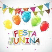 festa junina feriado fundo tradicional brasil festa festa junina vetor