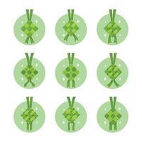 conjunto de ícones de ketupat vetor