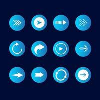 conjunto de ícones da seta vetor