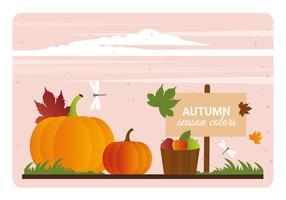 Vector Outono ilustração de cores