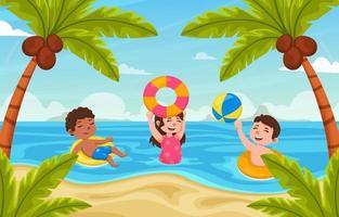 fundo de natação de verão vetor