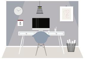 Ilustração do quarto do designer de vetor