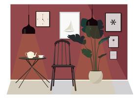 Vector Interior Moderna Ilustração