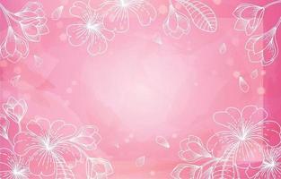 fundo aquarela floral rosa vetor