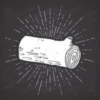 registro de árvore rótulo vintage esboço desenhado à mão grunge texturizado distintivo retrô tipografia design camiseta imprimir ilustração vetorial no fundo do quadro vetor