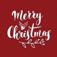 letras caligráficas de feliz Natal. design tipográfico de saudações. letras de caligrafia para saudação de feriado. mão desenhada letras ilustração vetorial de texto vetor