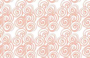 mão desenhada escova preta espiral abstrata sem costura padrão, ilustração vetorial vetor