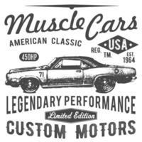 design de tipografia de t-shirt, vetor de carro retrô, gráficos de impressão, ilustração vetorial tipográfica, design gráfico de carro vintage para etiqueta ou impressão de t-shirt, emblema, apliques