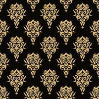 papel de parede real padrão floral sem costura, fundo de luxo vetor