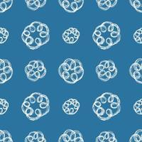 mão desenhada escova rabisco flores padrão sem emenda, ilustração vetorial vetor