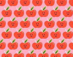 padrão sem emenda de maçã feliz