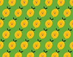 padrão feliz de limão