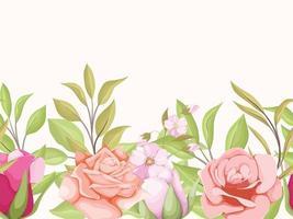 design floral de padrão sem emenda para têxteis e papel de parede da moda vetor