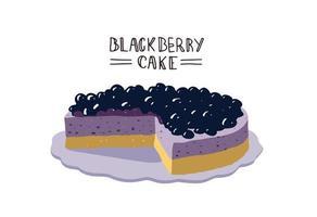 design de bolo de amora vetor