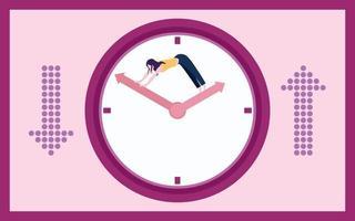 gerenciamento de tempo gráfico ilustração plana design clipart vetor