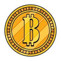 desenho de vetor bitcoin isolado