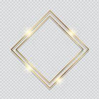 fundo de moldura de ouro metálico vetor