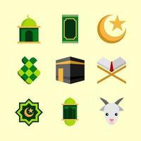 conjunto de ícones eid al adha vetor