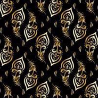 lindas penas de pavão padrão dourado vetor