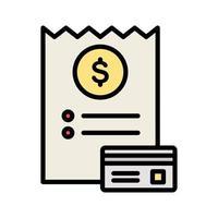 ícone de vetor de fatura