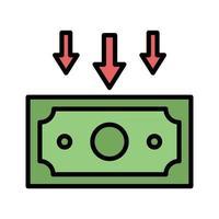 ícone de perda de renda vetor