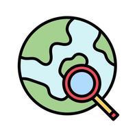 ícone de pesquisa global vetor